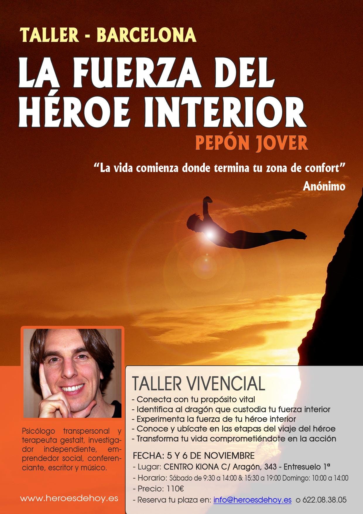 taller la fuerza del héroe interior pepón jover viaje del héroe
